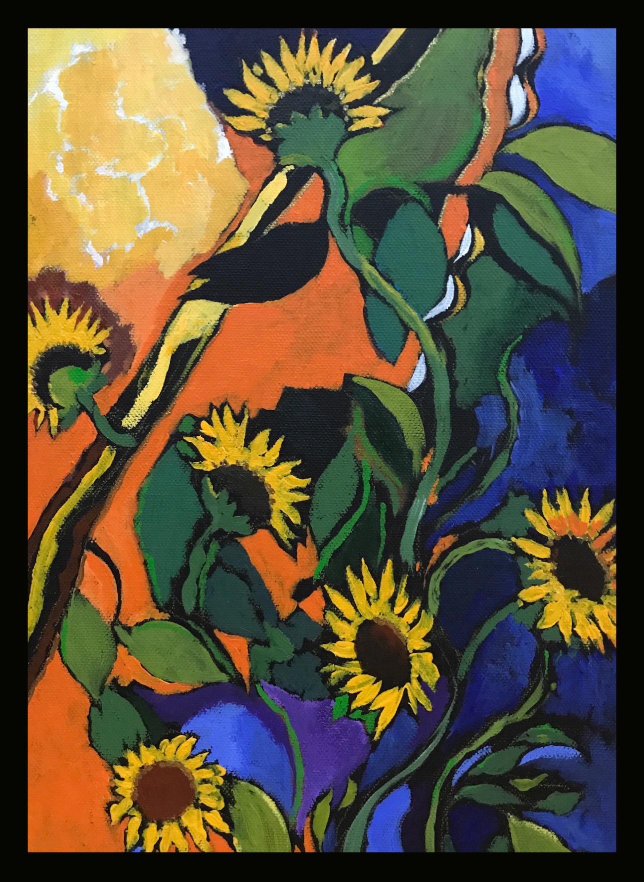 Sunflowers detail acrylic on canvas